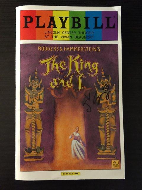『王様と私』PLAYBILL