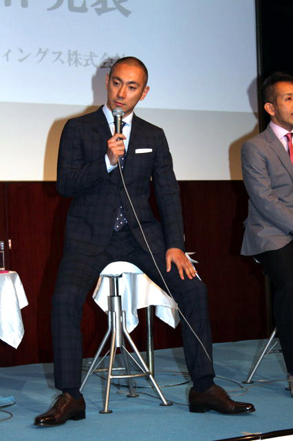 【動画】乙姫さまからわんこまで!?市川海老蔵『ABKAI』製作発表<2>
