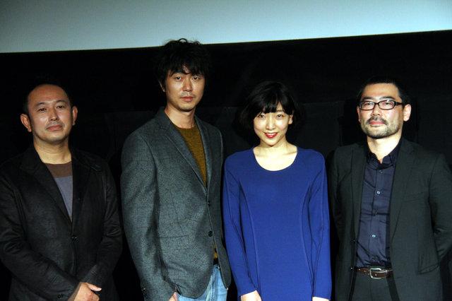 安藤サクラと新井浩文をつなぐのは「ササミ」!? 映画『百円の恋』舞台挨拶