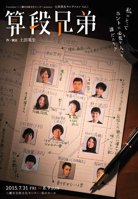 土田英生が描く壮絶な「家族ごっこ」とは!?舞台『算段兄弟』7月開幕
