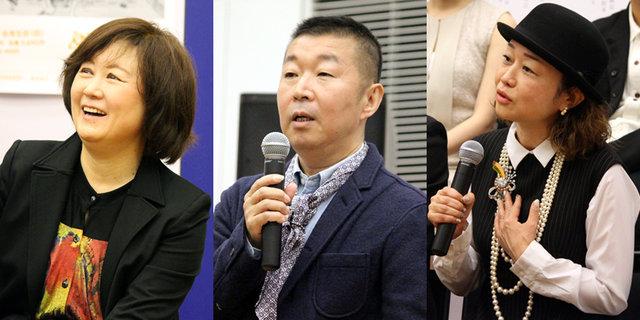 鄭義信 三部作制作発表_宮田慶子鄭義信鈴木裕美