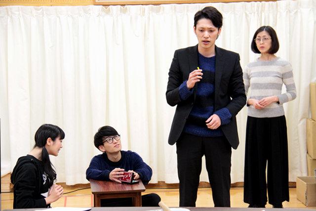安西慎太郎、松田凌、前島亜美らが問いかける「働く幸せとは?」舞台『幸福な職場』稽古場レポート