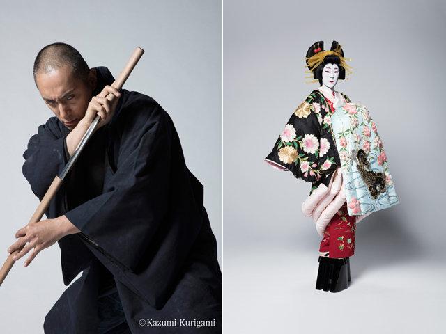 六本木歌舞伎第2弾『座頭市』市川海老蔵の座頭市&寺島しのぶの花魁姿を公開!