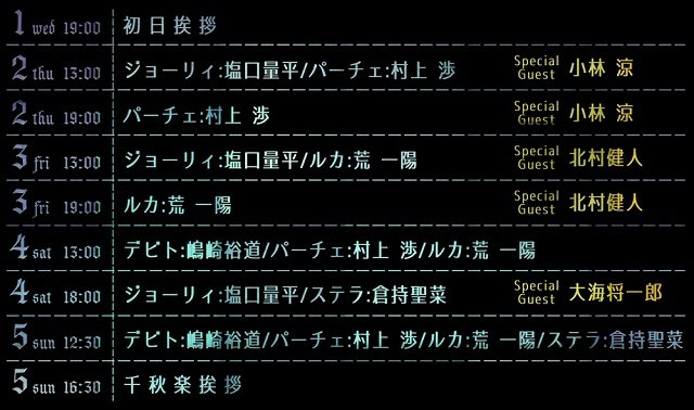 舞台『アルカナ・ファミリア Episode0 希望の花』キャスト_アフターイベントゲスト