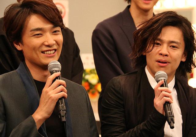 井上芳雄と中川晃教がついに共演!WOWOW『グリーン&ブラックス』製作発表会見