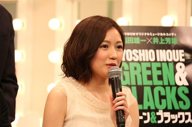 WOWOW『グリーン&ブラックス』製作発表_渡辺麻友(AKB48)