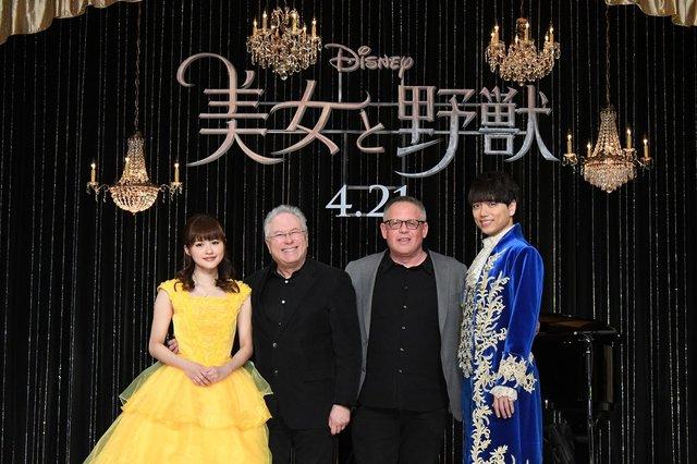 『美女と野獣』来日記者会見で昆夏美&山崎育三郎がアラン・メンケンと夢の共演
