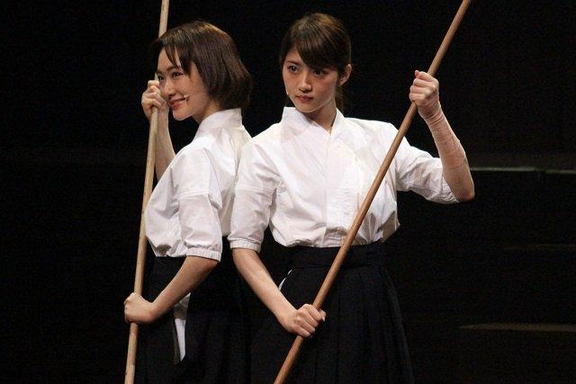 舞台『あさひなぐ』公開稽古_生駒里奈&若月佑美(乃木坂46)