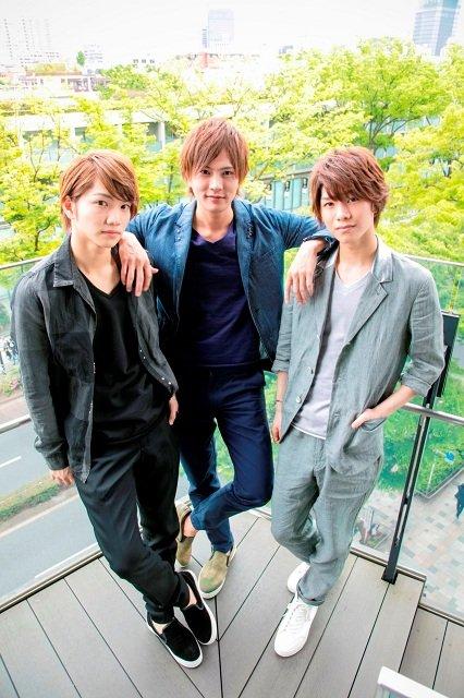 (左から)三浦宏規、財木琢磨、北川尚弥
