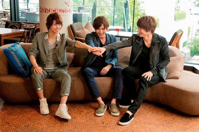 (左から)北川尚弥、財木琢磨、三浦宏規