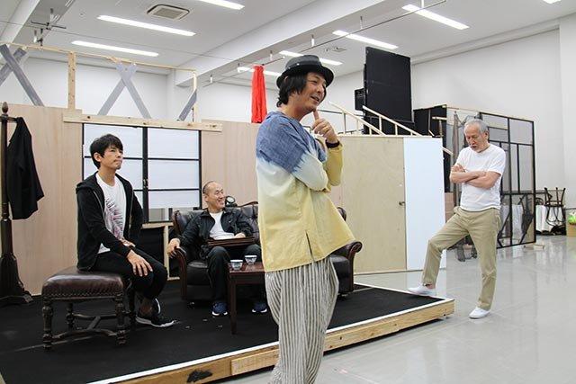 音楽劇『魔都夜曲』稽古場レポート_藤木直人、山西惇、村井國夫、河原雅彦