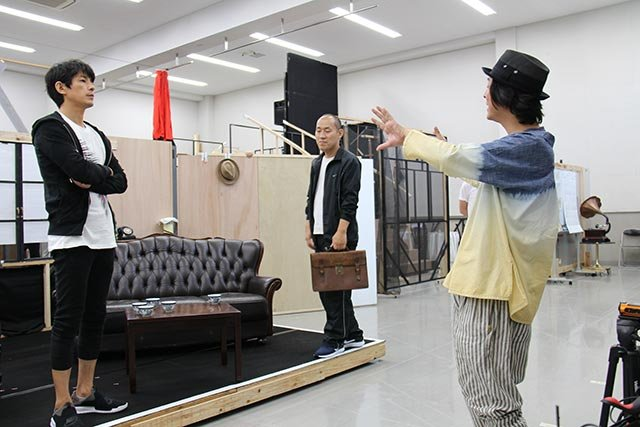 音楽劇『魔都夜曲』稽古場レポート_藤木直人、山西惇、河原雅彦