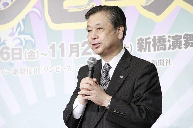 スーパー歌舞伎II『ワンピース』制作発表会見_安孫子正(松竹株式会社副社長)