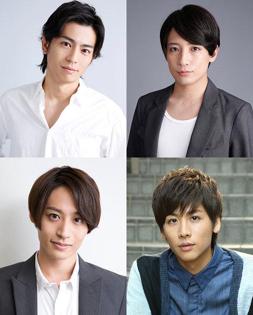 (左上から時計周りに)D-BOYS牧田哲也、陳内将、池岡亮介、前山剛久