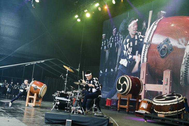 鼓童「FUJI ROCK FESTIVAL'18」舞台写真_2