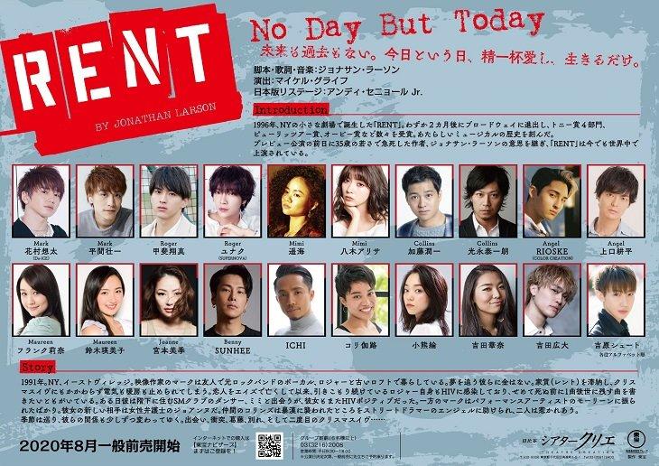 早くも続報!ミュージカル『RENT』もう一人の主演は平間壮一!甲斐翔真、ユナクら全キャスト発表