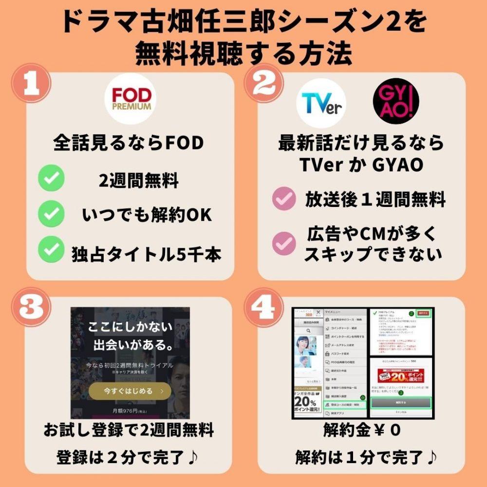 古畑任三郎シーズン2の動画を無料視聴する