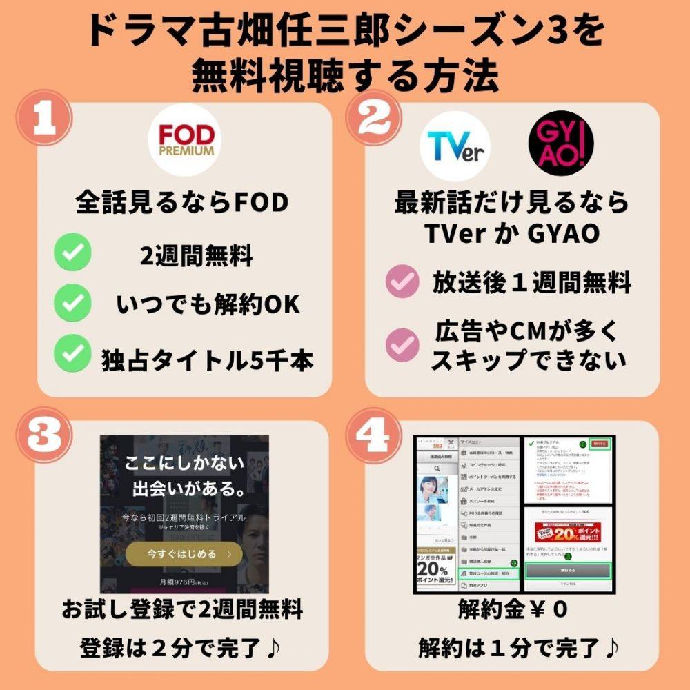 古畑任三郎シーズン3の動画を無料視聴する