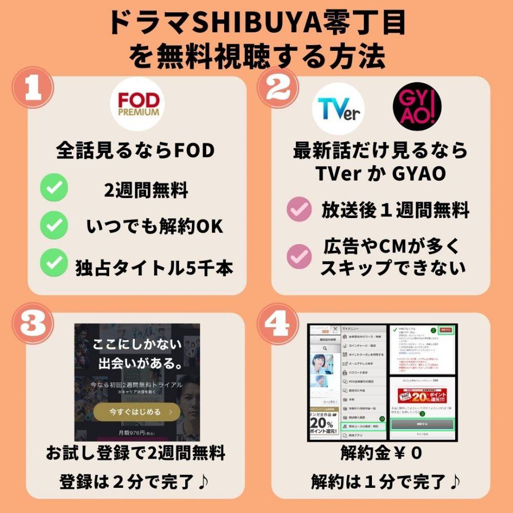 ドラマSHIBUYA零丁目を無料視聴