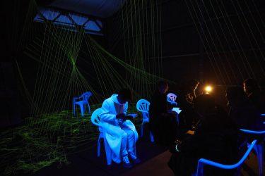 すみだパークスタジオが仮想現実の空間に?!移動参加型演劇『SAFARING THE NIGHT/サファリング・ザ・ナイト』公演レポート