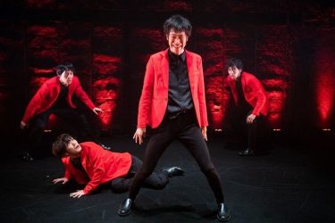 柿喰う客『美少年』開幕!男優4人が繰り広げる醜い大人たちの物語
