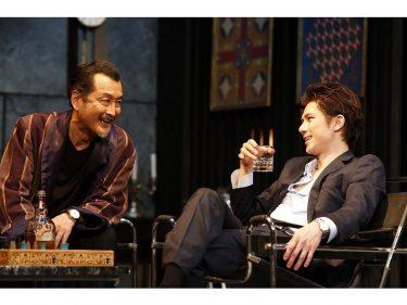 吉田鋼太郎×柿澤勇人、男二人が繰り広げるゲームのようなサスペンス劇『スルース~探偵~』開幕